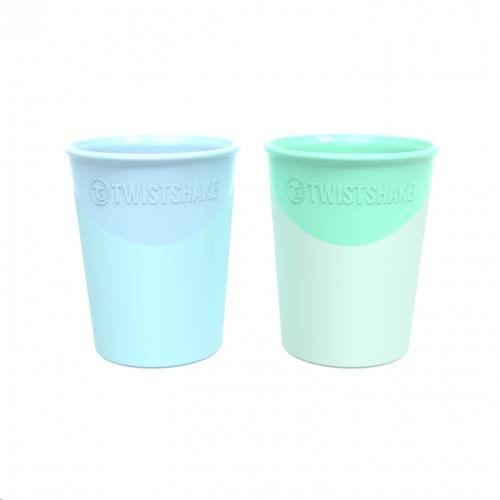 Twistshake - Beker Set Pastel Blauw/Groen