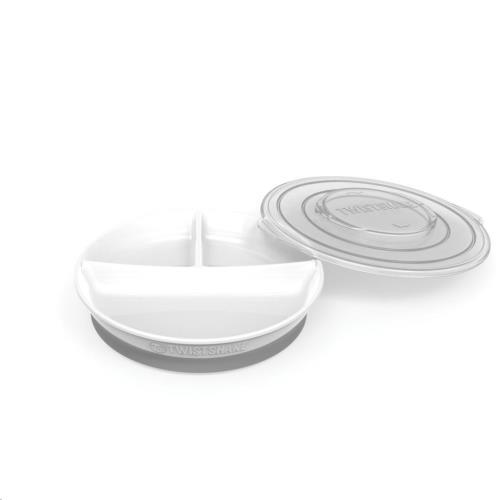 Twistshake - Bord Met Vakken Wit
