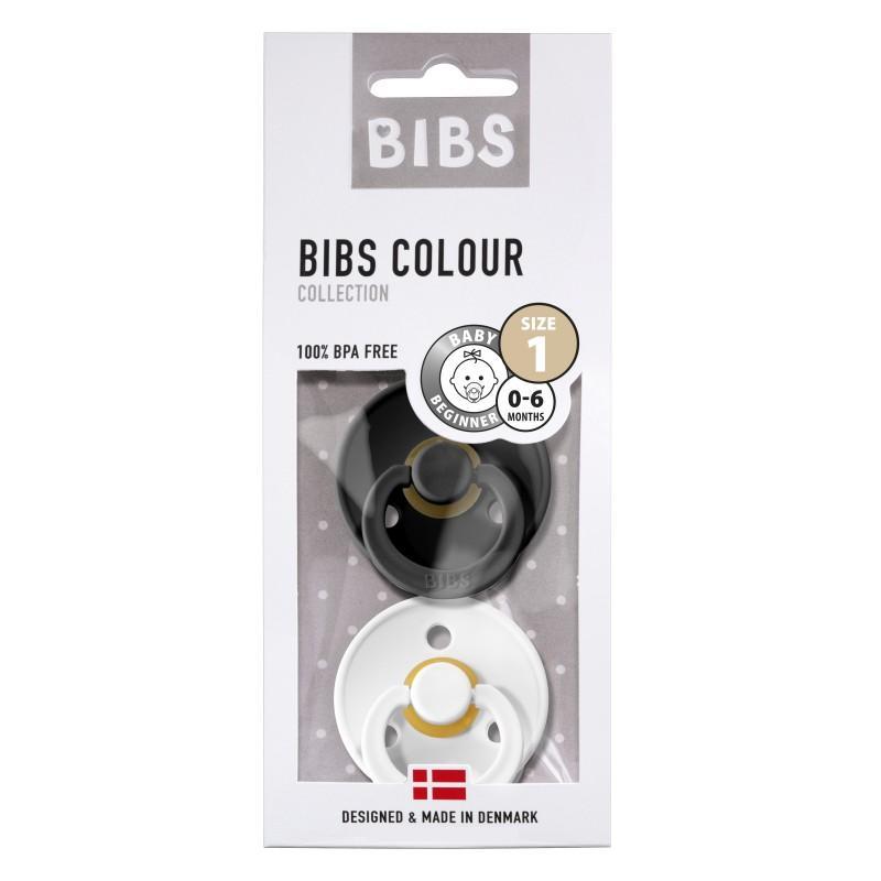 Bibs - Fopspeen Natuurrubber - Blister Black / White - T1