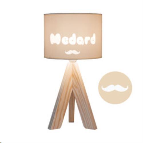 My Little Lamp - Tripode Nature / Ivoren Kap / Snor / Playfull