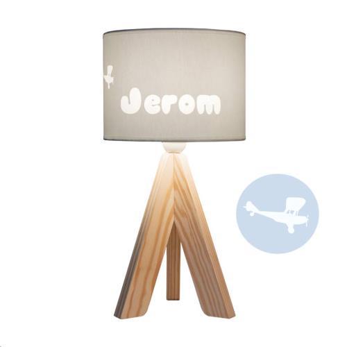 My Little Lamp - Tripode Nature / Grijze Kap / Vliegtuig / Balloon