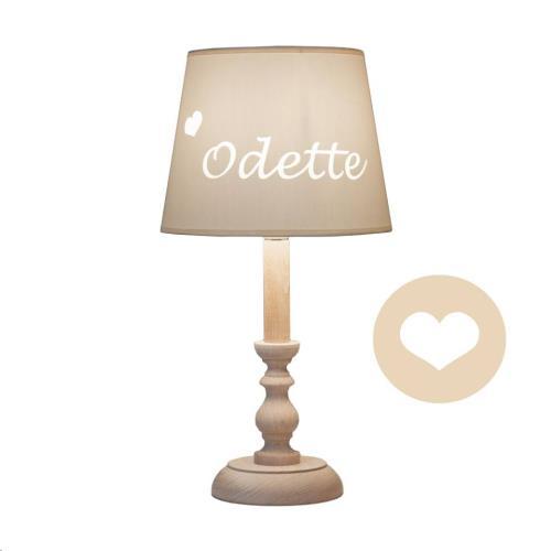 My Little Lamp - Classic Nature / Ivoren Kap / Hartje / Lucida Handwriting