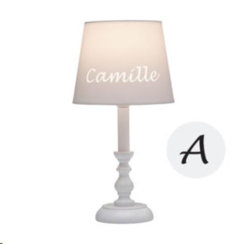 My Little Lamp - Classic Wit / Witte Kap / Lettertype Geboortekaart