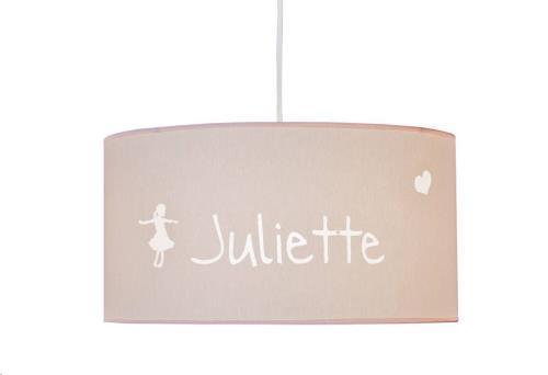 My Little Lamp - Hanglamp / Roze Kap / Lettertype Geboortekaart