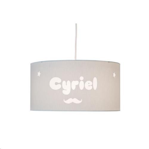 My Little Lamp - Hanglamp / Grijze Kap / Lettertype Geboortekaart