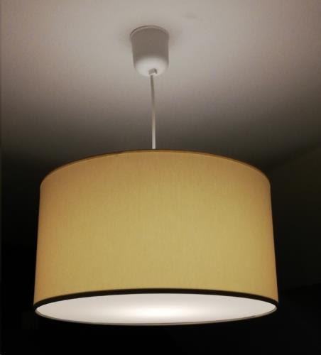 My little lamp - Hanglamp Ivoor 40 cm Diameter Zonder Naam