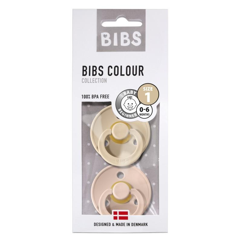 Bibs - Fopspeen natuurrubber 2-Pack T1 - Blush/ Vanilla