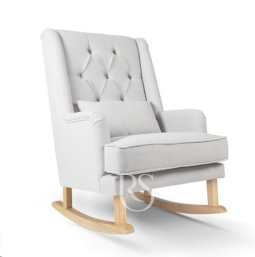 Rocking Seats - Schommelstoel Royal Rocker Silver Grey. Natural Legs