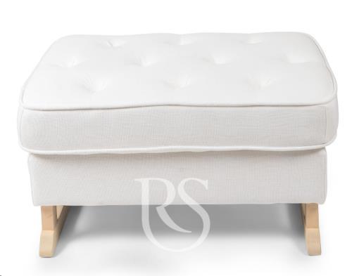 Rocking Seats - Royal Voetenbank Snow White. Natural Legs