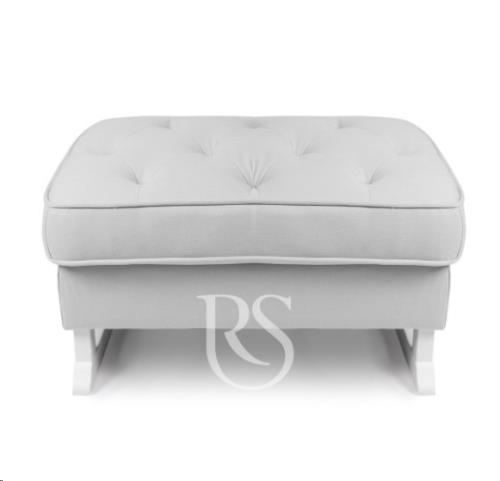 Rocking Seats - Royal Voetenbank Silver Grey. White Legs