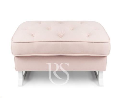 Rocking Seats - Royal Voetenbank Blush Pink. White Legs