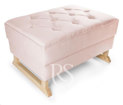 Rocking Seats - Royal Voetenbank Blush Pink. Natural Legs