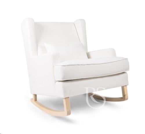 Rocking Seats - Schommelstoel Pearl Rocker Snow White. Natural Legs