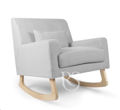 Rocking Seats - Schommelstoel Jazz Rocker Silver Grey. Natural Legs