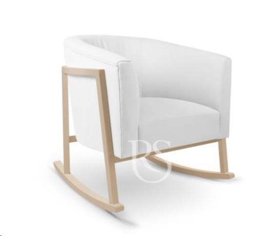 Rocking Seats - Schommelstoel Cruz Rocker Pure White. Natural Legs