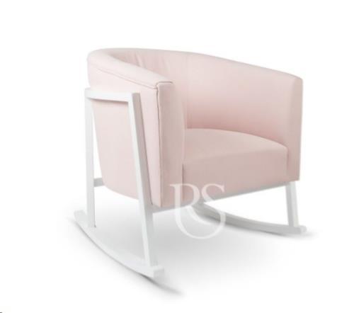 Rocking Seats - Schommelstoel Cruz Rocker Blush Pink. White Legs