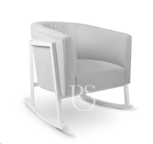 Rocking Seats - Schommelstoel Cruz Rocker Stone Grey. White Legs