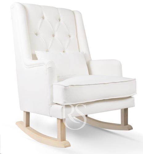 Rocking Seats - Schommelstoel Royal Rocker Snow White. Natural Legs