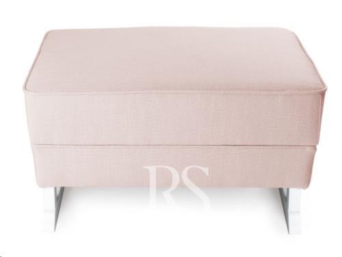 Rocking Seats - Royal Voetenbank Zonder Knopen Blush Pink. White Legs