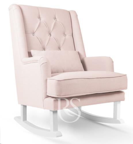 Rocking Seats - Schommelstoel Crystal Royal Rocker Blush Pink. White Legs