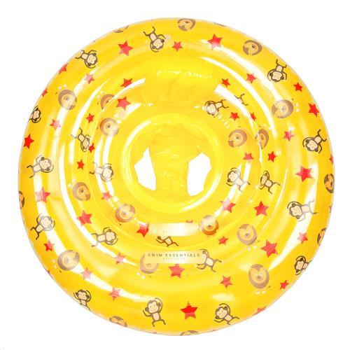 Swim Essentials - Baby Float Print Yellow Circus Monkey-Lion-Stars 0-1 Jaar