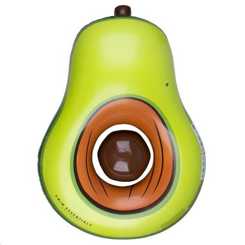 Swim Essentials - Luchtbed Avocado Platea Incl. Strandbal 180 cm