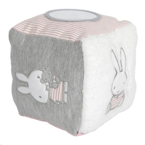 Nijntje - Miffy - Kubus Nijntje Pink Baby Rib