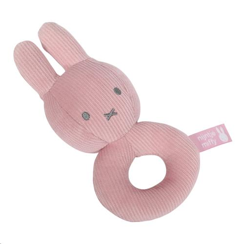 Nijntje - Miffy - Rammelaar Nijntje Pink Baby Rib
