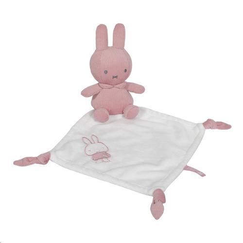 Nijntje - Miffy - Knuffeldoekje Nijntje Pink Baby Rib