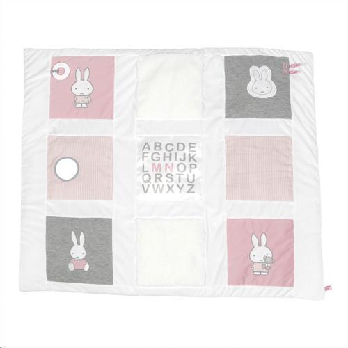 Nijntje - Miffy - Boxkleed Nijntje Pink Baby Rib 85 X 100 cm