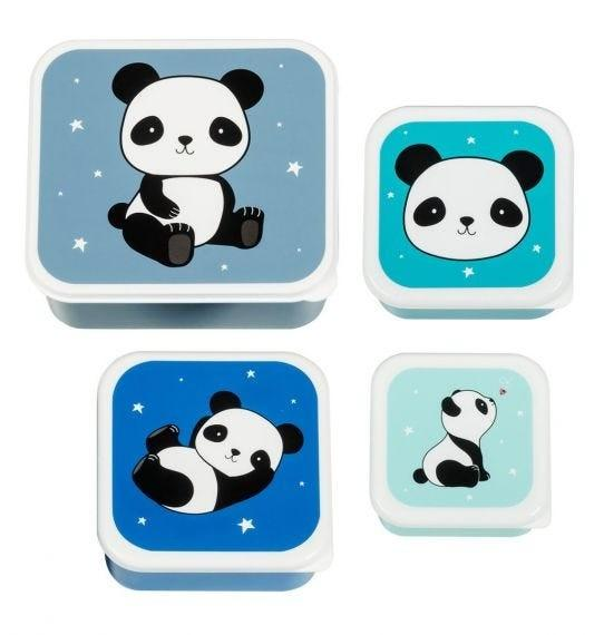 A Little Lovely Company - Lunch & snack box set: Panda