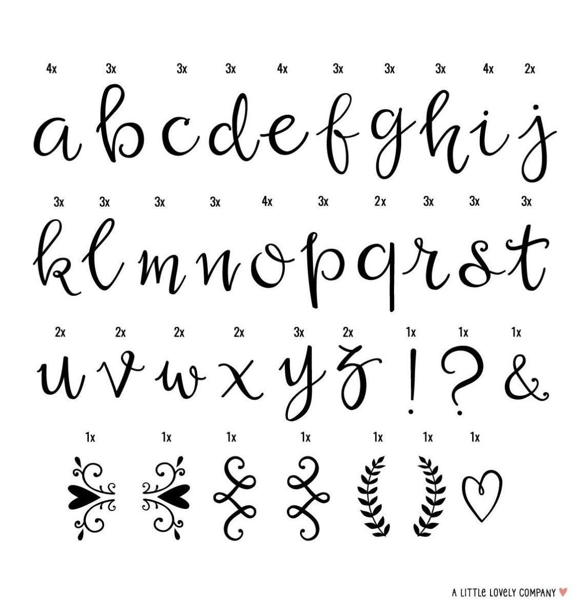 A Little Lovely Company - Lightbox letter set: Script
