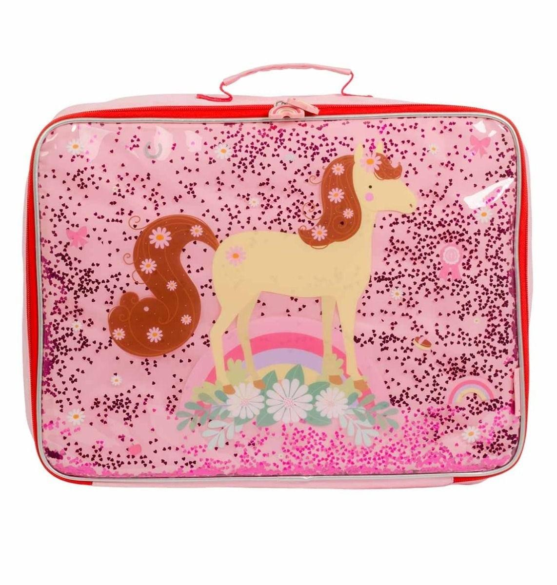 A Little Lovely Company - Suitcase: Glitter - horse