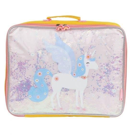 A Little Lovely Company - Suitcase: Glitter - unicorn