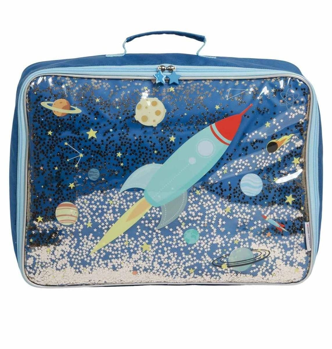 A Little Lovely Company - Suitcase: Glitter - space