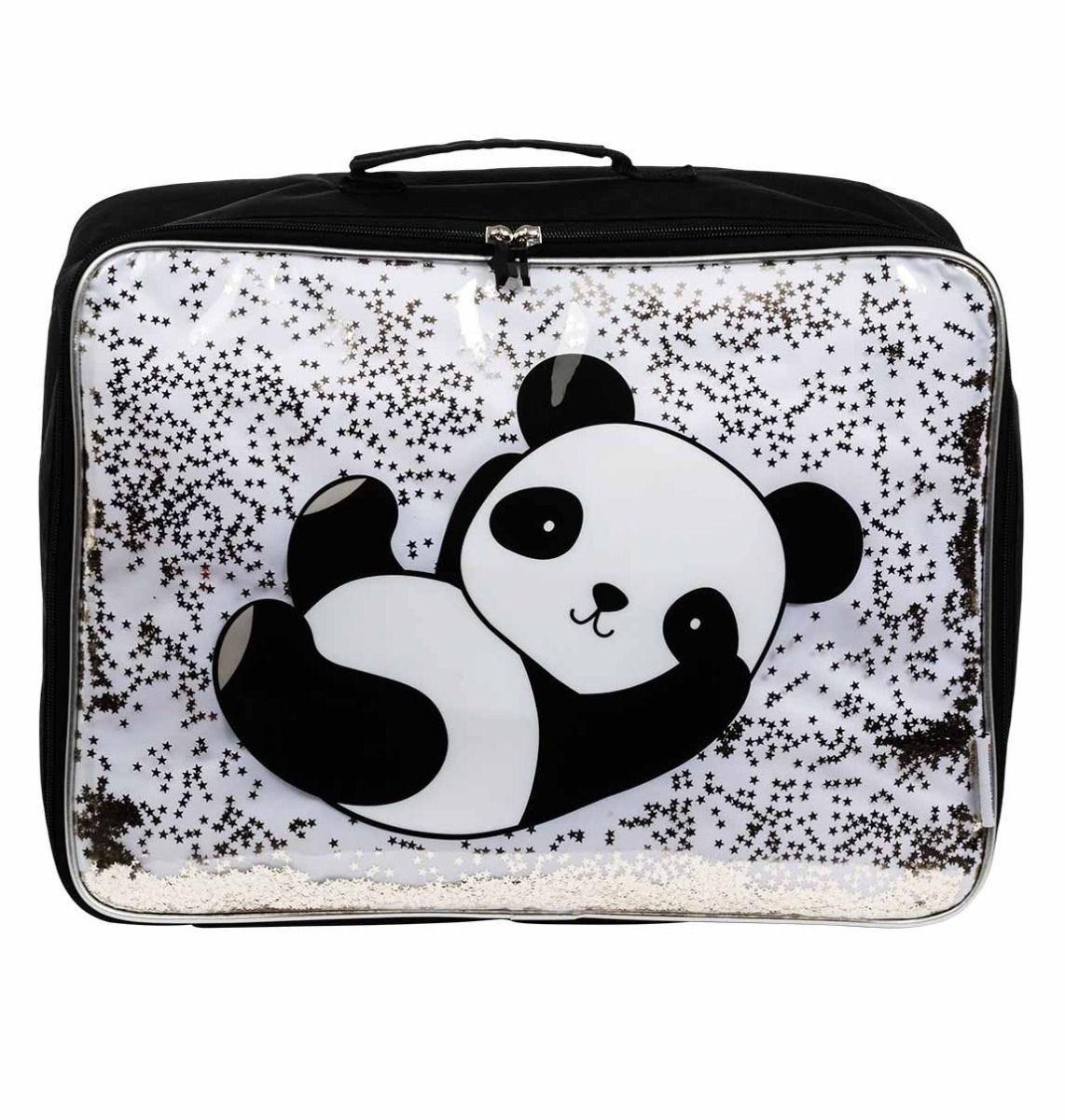 A Little Lovely Company - Suitcase: Glitter - panda