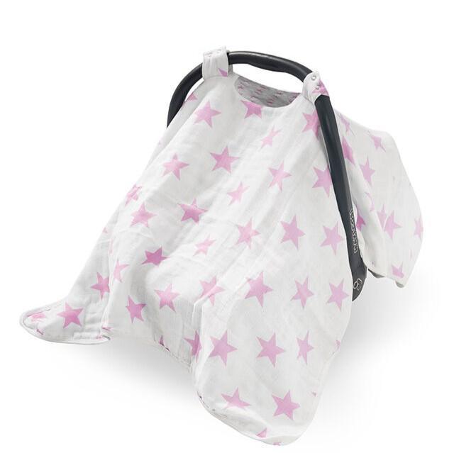 Jollein - Autostoel kap groep 0+ Little star pink