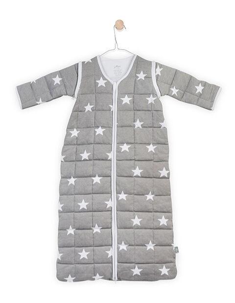 Jollein - Baby slaapzak 110cm Little star grey met afritsbare mouw