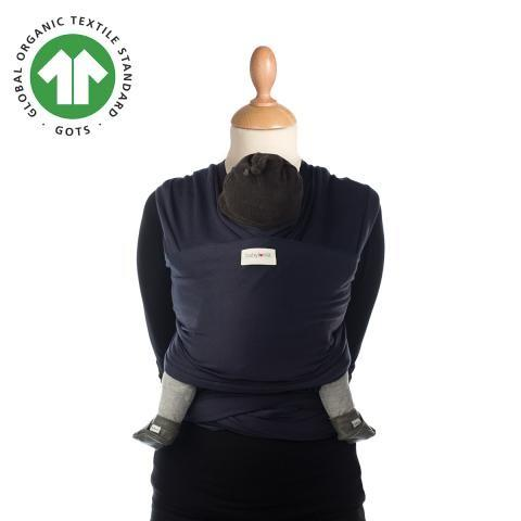Babylonia baby Carriers - Draagdoek Tricot-Slen Organic - Navy Blue - One Size