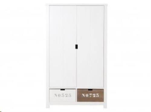 Bopita - 2-Deurskast XL Basic Wood White Wash (Excl. 2 Bakken 135107Xx)