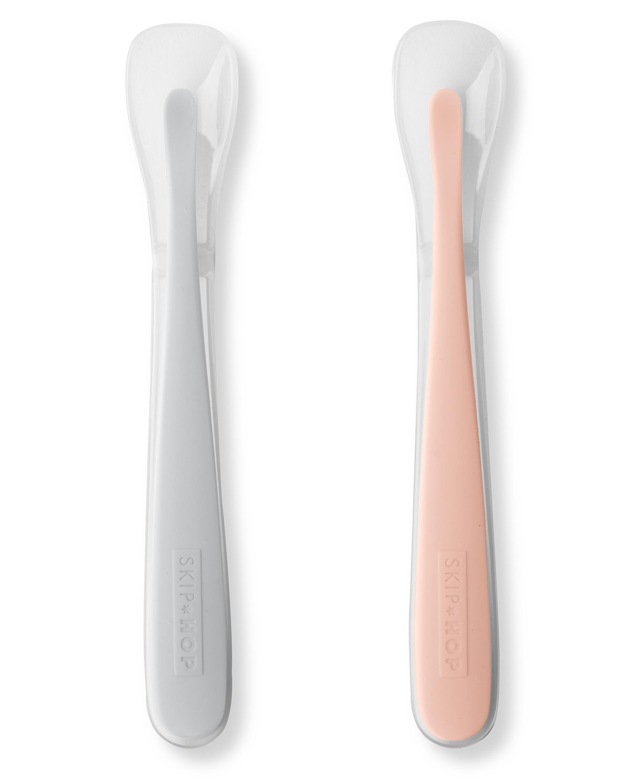 Skip Hop - Easy Feed Spoons Grey/soft Coral