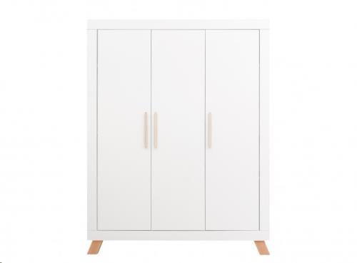 Bopita - 3-deurskast Lisa Wit/Naturel