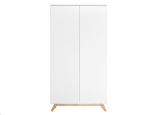 Bopita - 2-deurskast XL greeploos Lynn Wit/Naturel