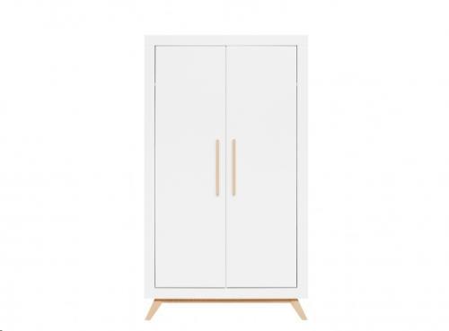 Bopita - 2-deurskast Fenna Wit/Naturel