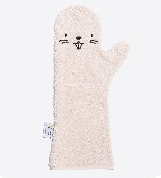Baby Shower Glove - Washand Bever Roze