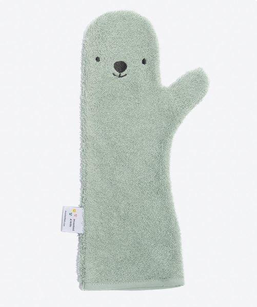 Baby Shower Glove - Washand Beer Groen