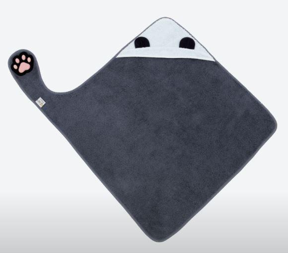 Invented 4 Kids - Handsfree Badcape Panda Grey