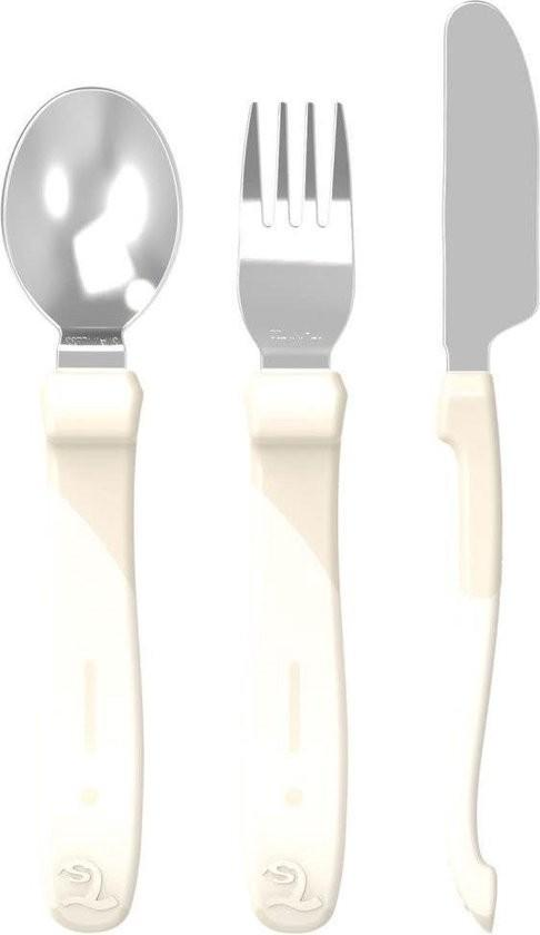Twistshake - Bestek 12M+ Pastel Beige