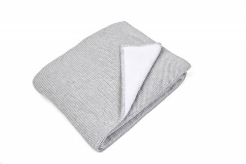 Poetree Kids - Baby Bed Blanket Antibes Grey Melange Sparkles (100X135Cm)
