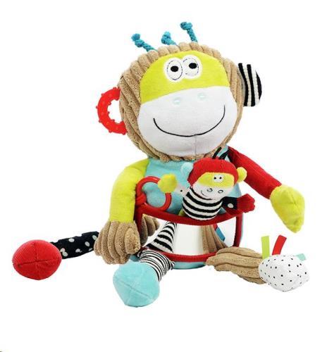 Dolce Toys - Activiteiten Knuffel - Speel En Leer Monkey